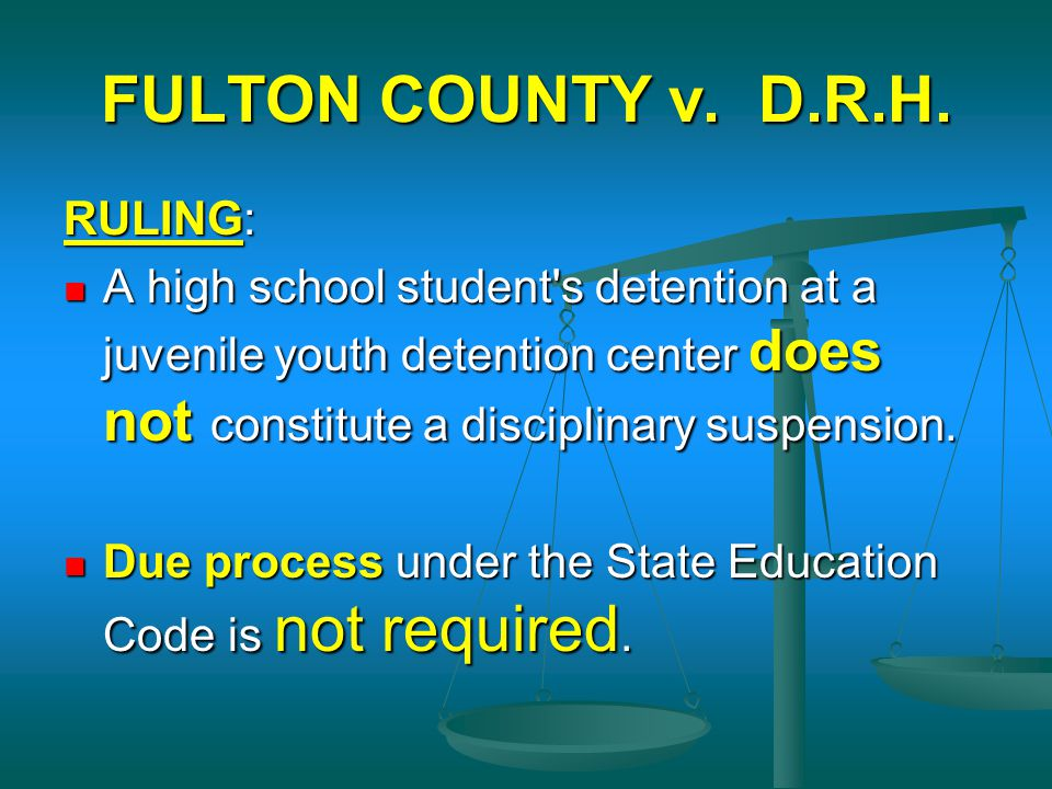 FULTON COUNTY v. D.R.H. RULING: