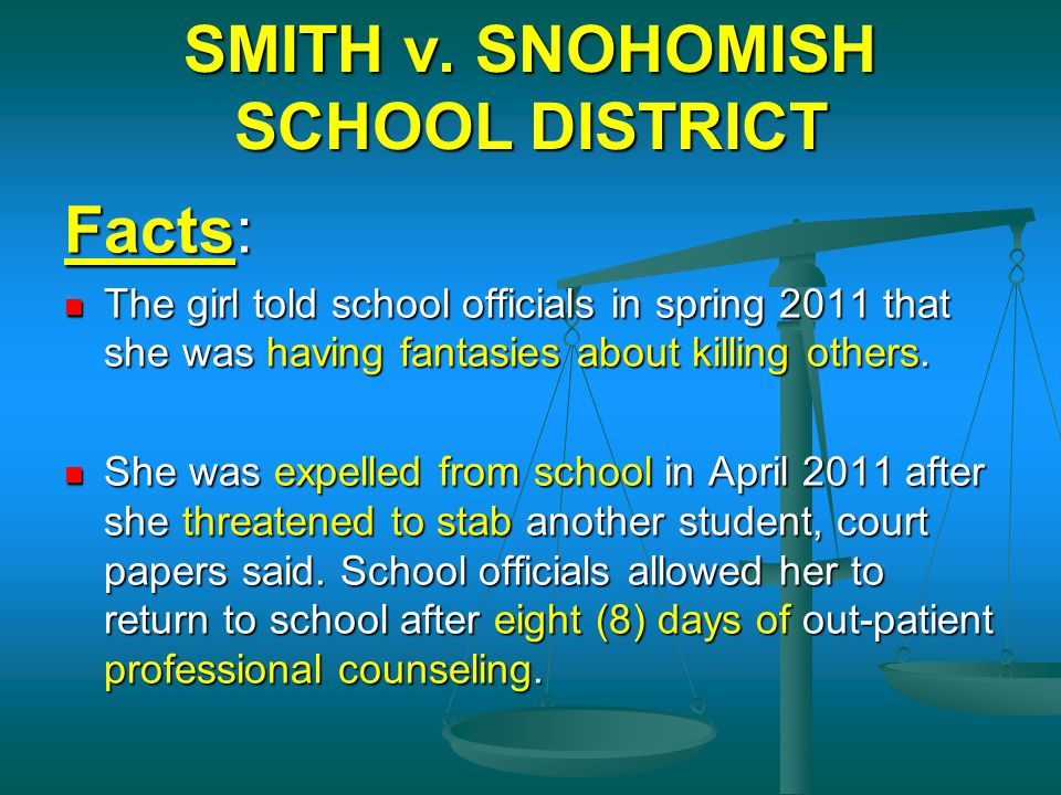 SMITH v. SNOHOMISH SCHOOL DISTRICT