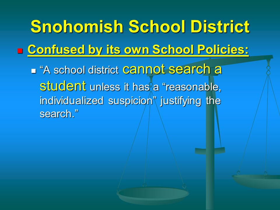 Reasonable Suspicion School Searches SCHOOL SAFETY A...
