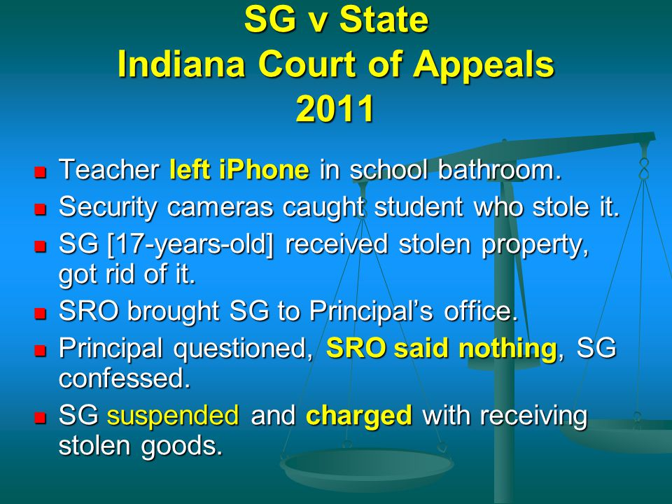 SG v State Indiana Court of Appeals 2011