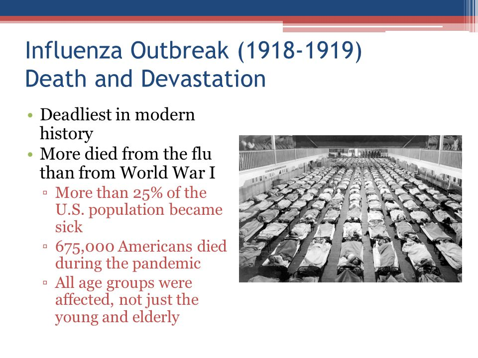 Influenza Outbreak (1918-1919) Death and Devastation