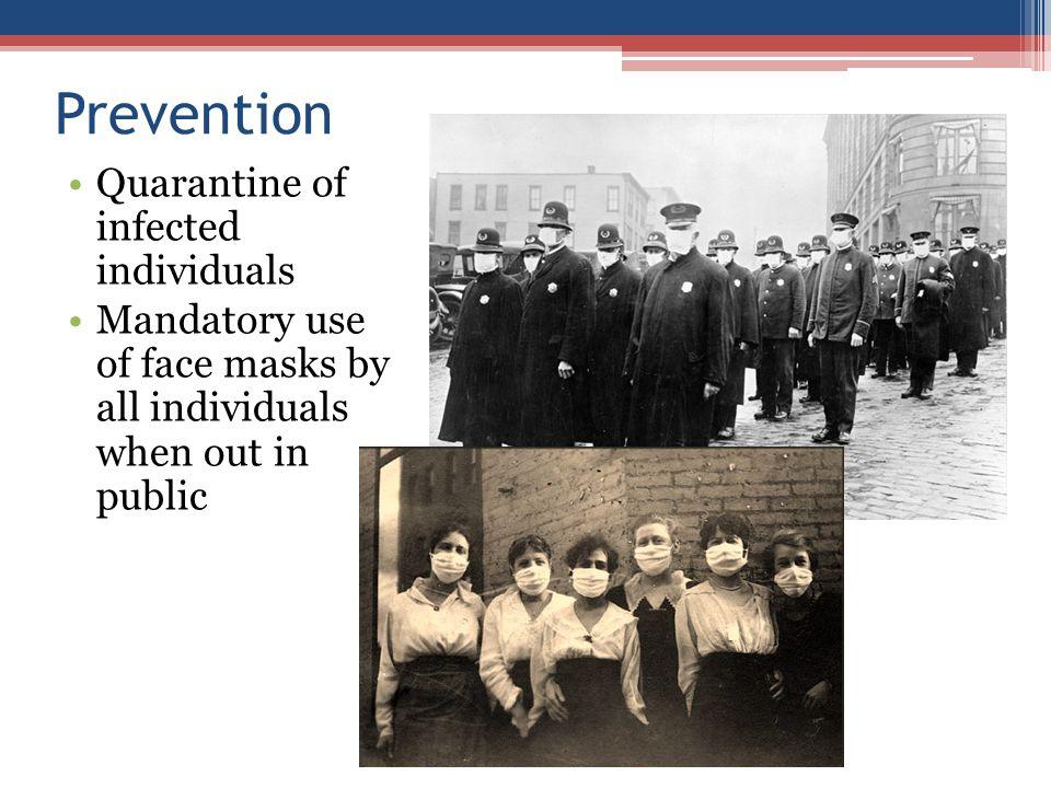 Prevention Quarantine of infected individuals