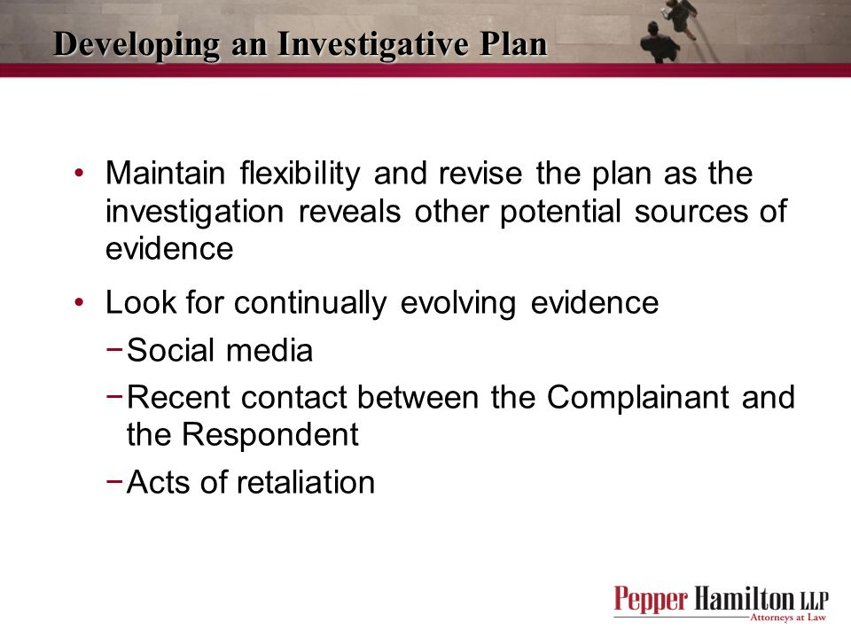 Developing an Investigative Plan