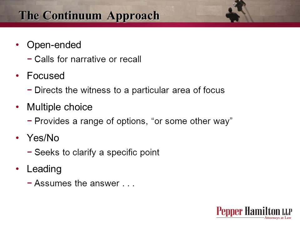 The Continuum Approach