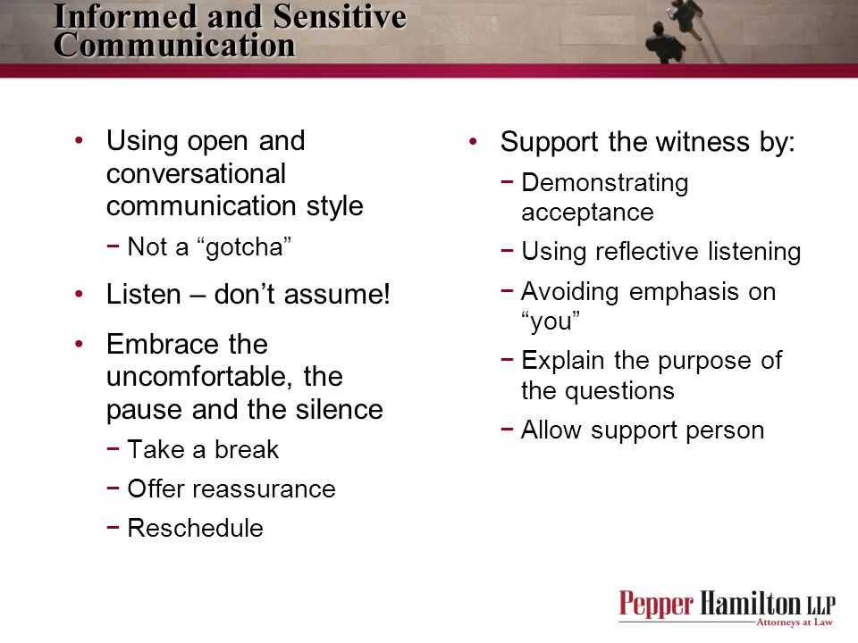 Informed and Sensitive Communication