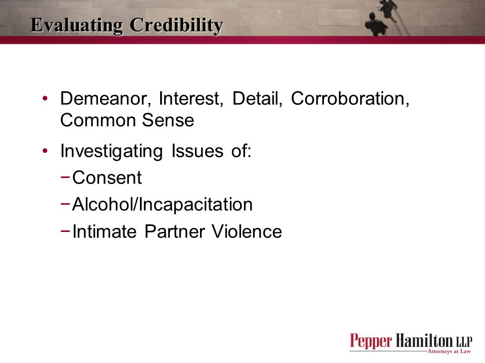 Evaluating Credibility