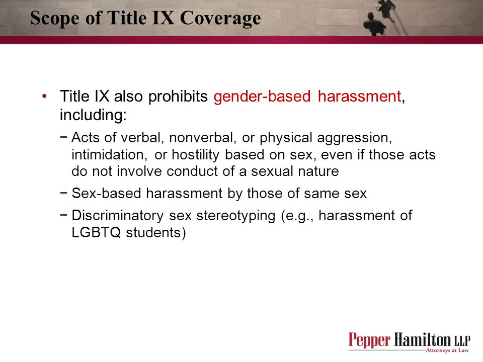 Scope of Title IX Coverage