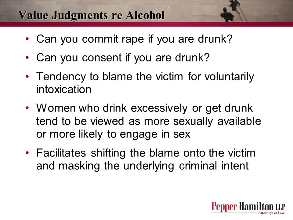 Value Judgments re Alcohol
