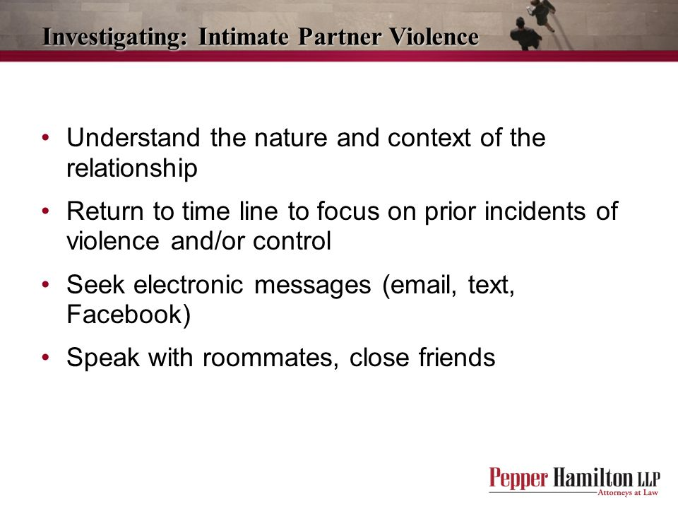 Investigating: Intimate Partner Violence