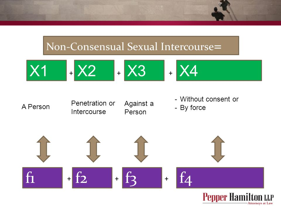 X1 X3 X2 f3 f2 f1 X4 f4 Non-Consensual Sexual Intercourse= A Person