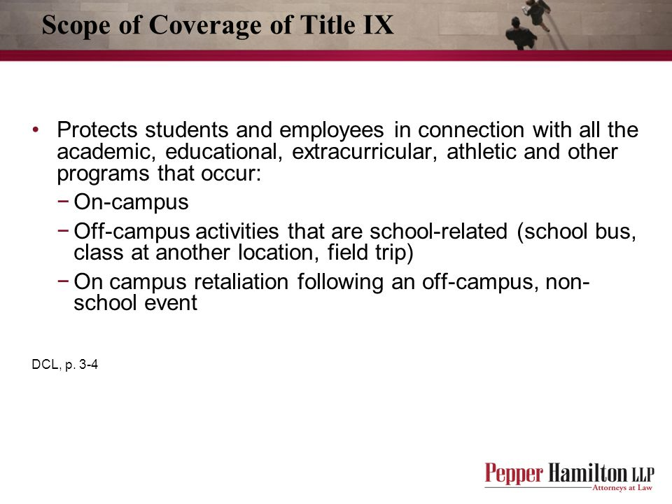 Scope of Coverage of Title IX