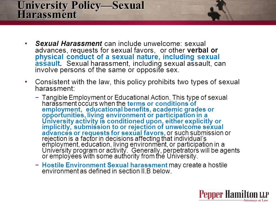 University Policy—Sexual Harassment