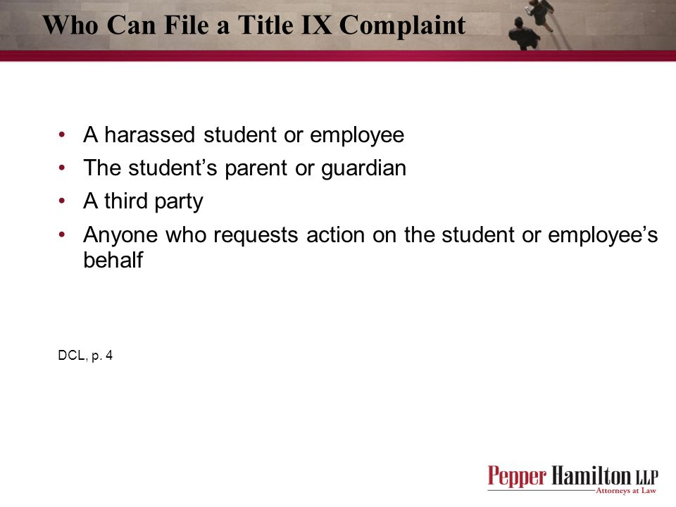 Who Can File a Title IX Complaint