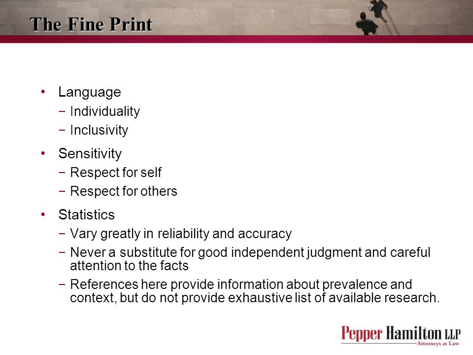 The Fine Print Language Sensitivity Statistics Individuality