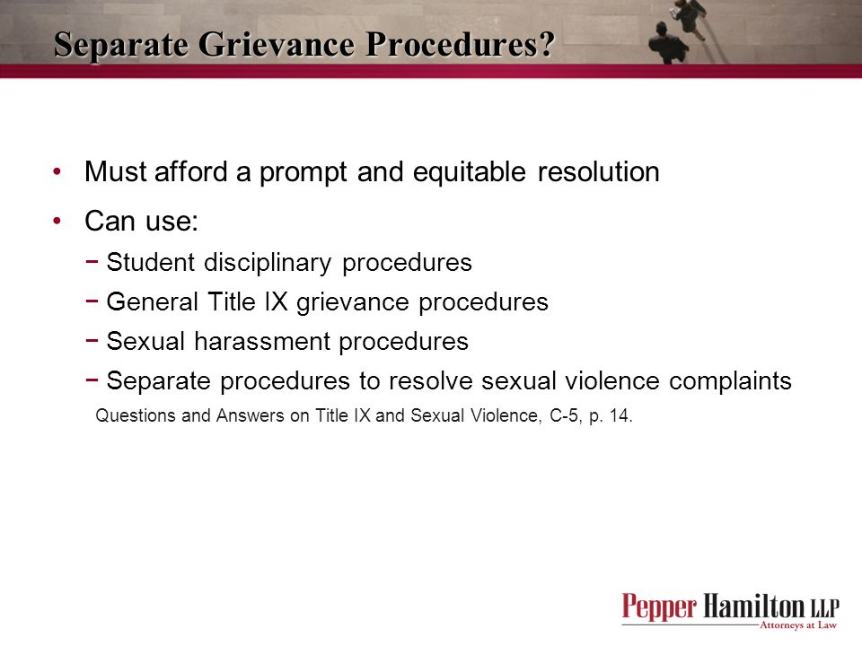 Separate Grievance Procedures