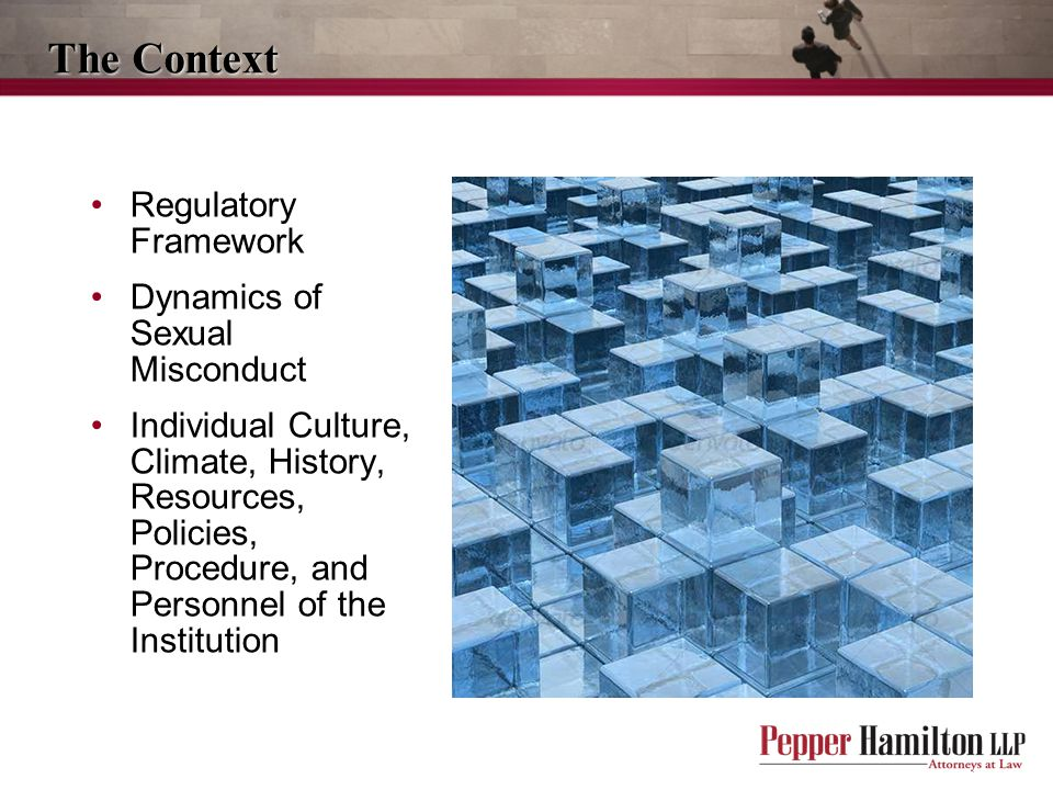 The Context Regulatory Framework Dynamics of Sexual Misconduct