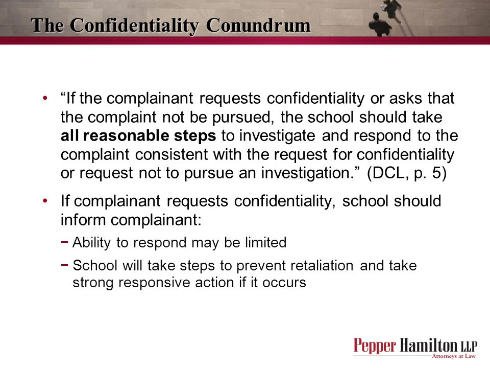 The Confidentiality Conundrum