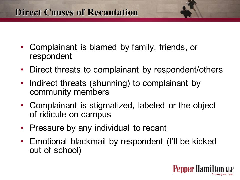 Direct Causes of Recantation