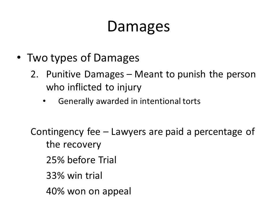 Damages Two types of Damages