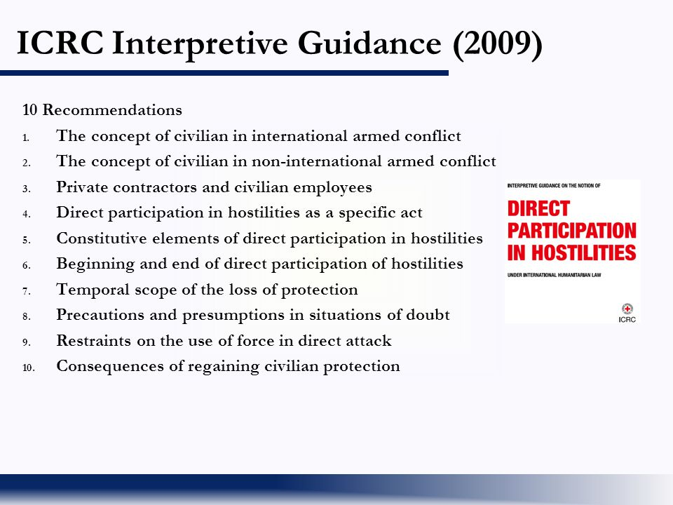 ICRC Interpretive Guidance (2009)
