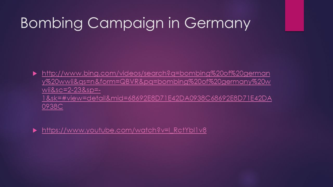 Bombing Campaign in Germany