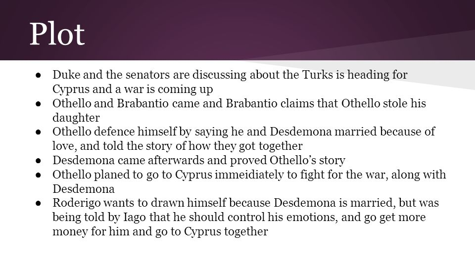 Plot Duke and the senators are discussing about the Turks is heading for Cyprus and a war is coming up.