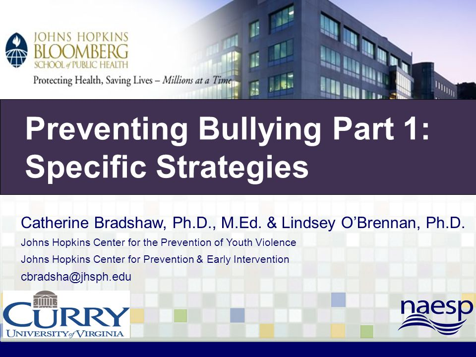Bullying Prevention Preventing Bullying Part 1: Specific Strategies