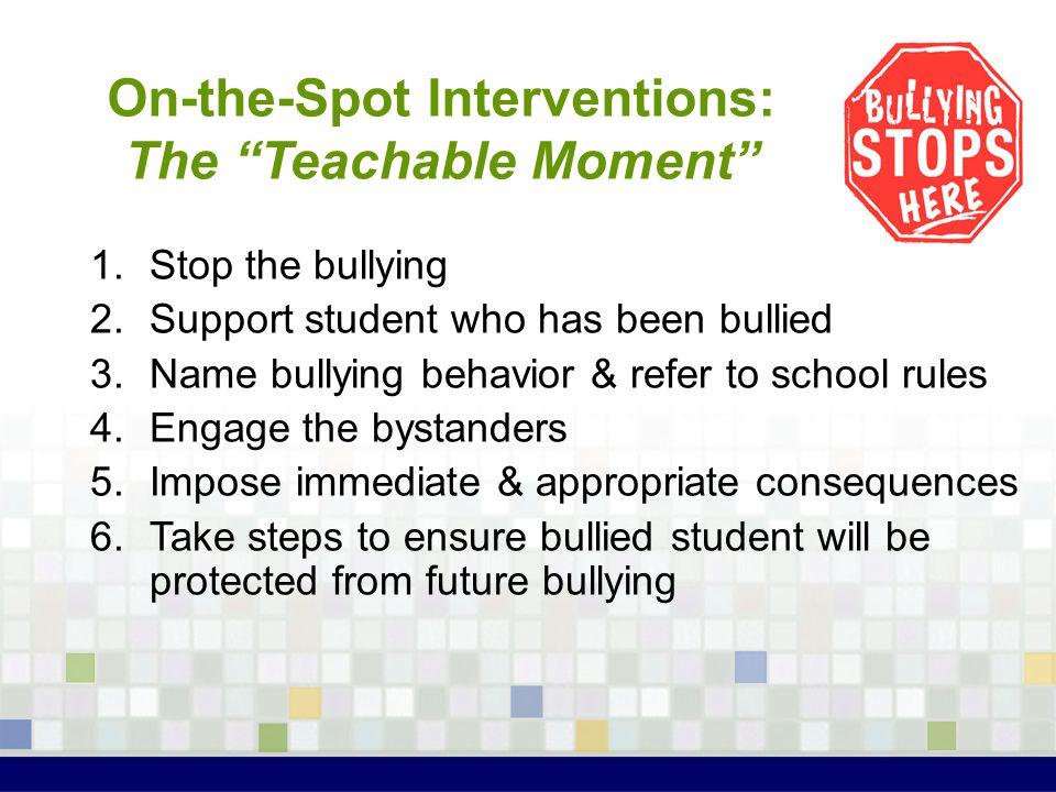 On-the-Spot Interventions: The Teachable Moment