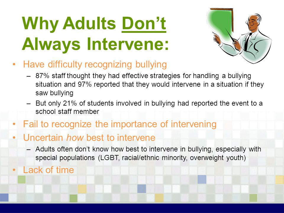 Why Adults Don't Always Intervene: