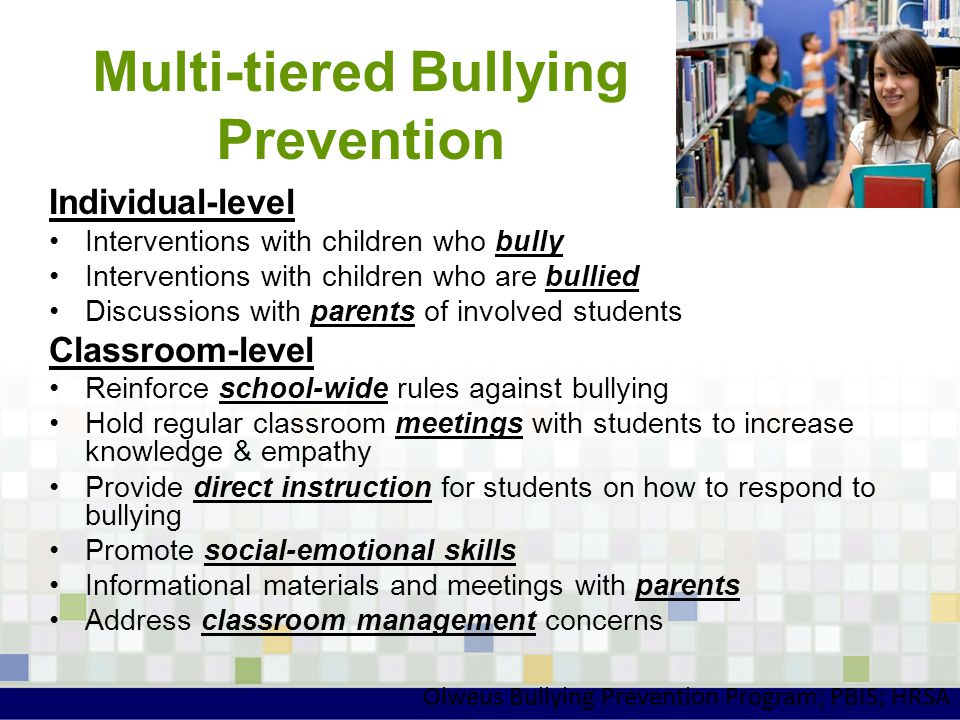 Multi-tiered Bullying Prevention