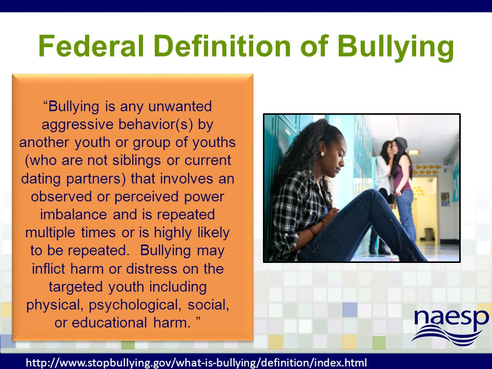 Federal Definition of Bullying