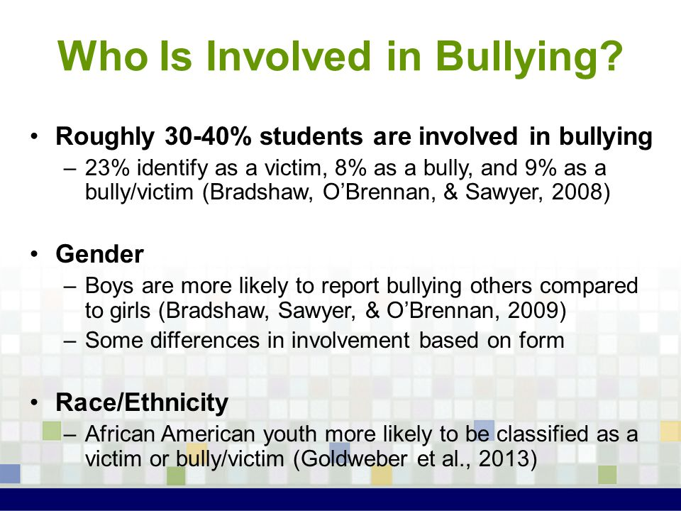 Who Is Involved in Bullying