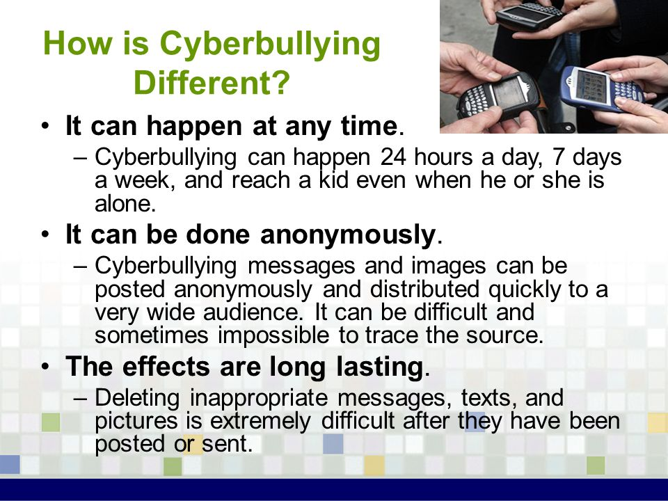 How is Cyberbullying Different