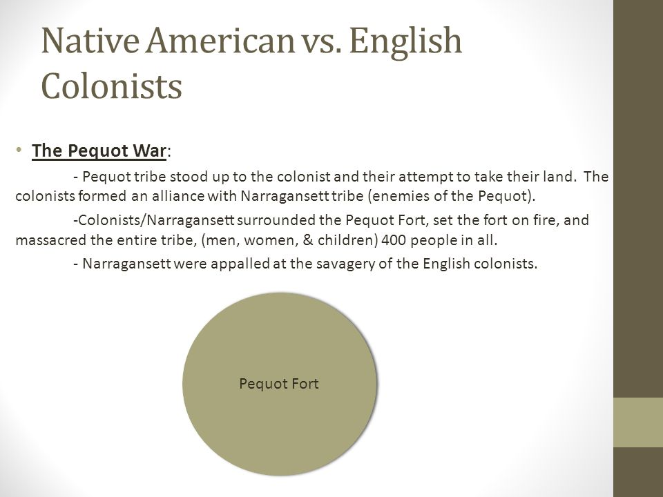 Native American vs. English Colonists