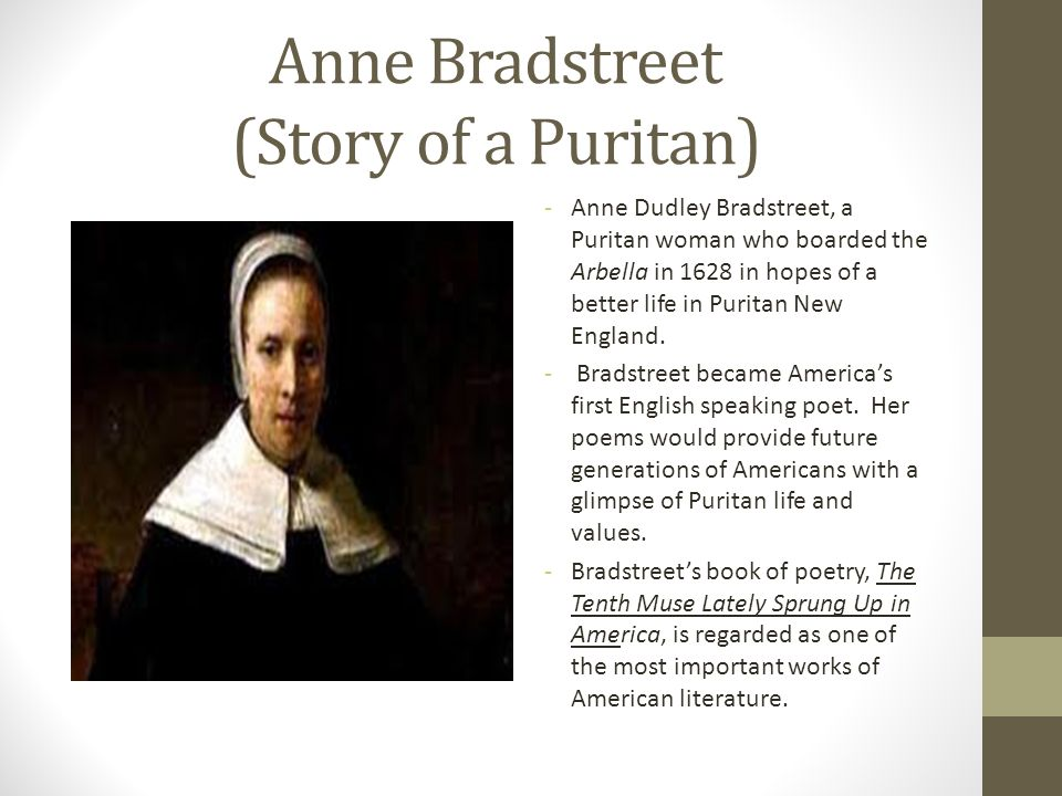 Anne Bradstreet (Story of a Puritan)