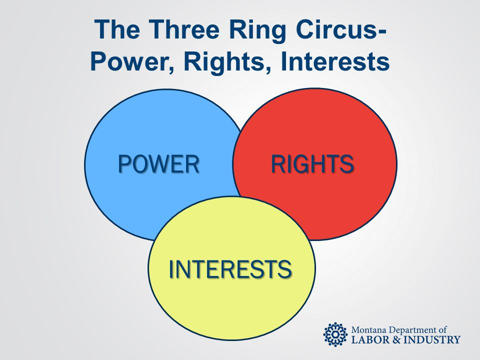 The Three Ring Circus- Power, Rights, Interests
