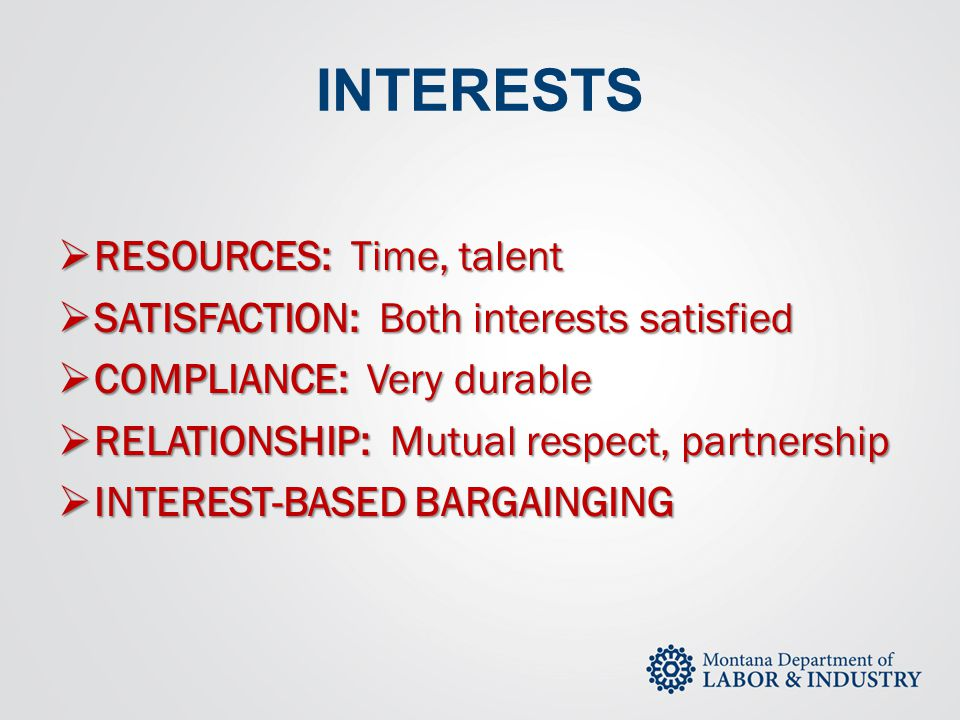 INTERESTS RESOURCES: Time, talent