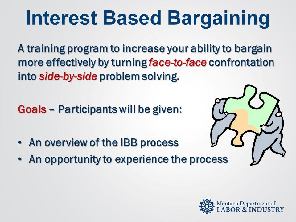 Interest Based Bargaining