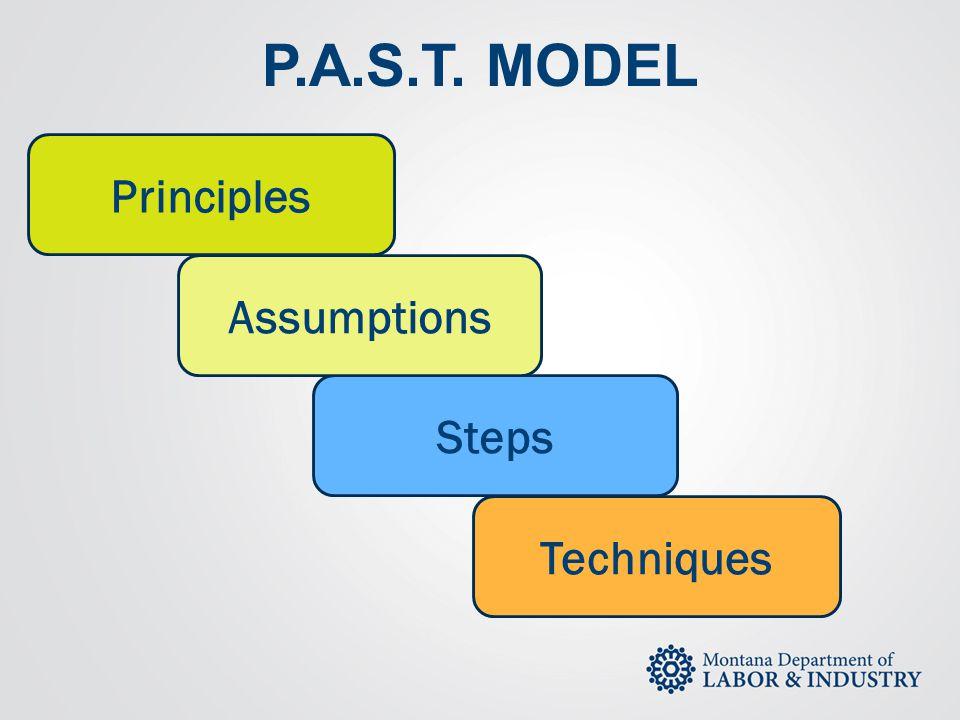 P.A.S.T. MODEL Principles Assumptions Steps Techniques
