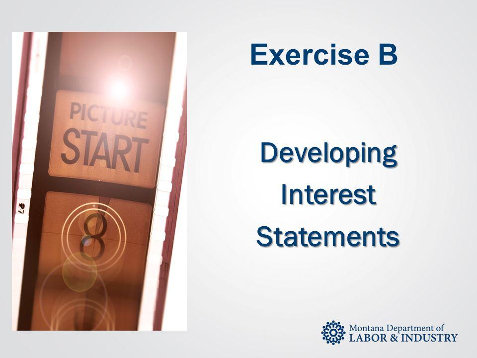 Developing Interest Statements
