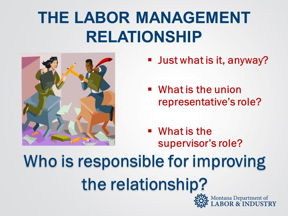 THE LABOR MANAGEMENT RELATIONSHIP