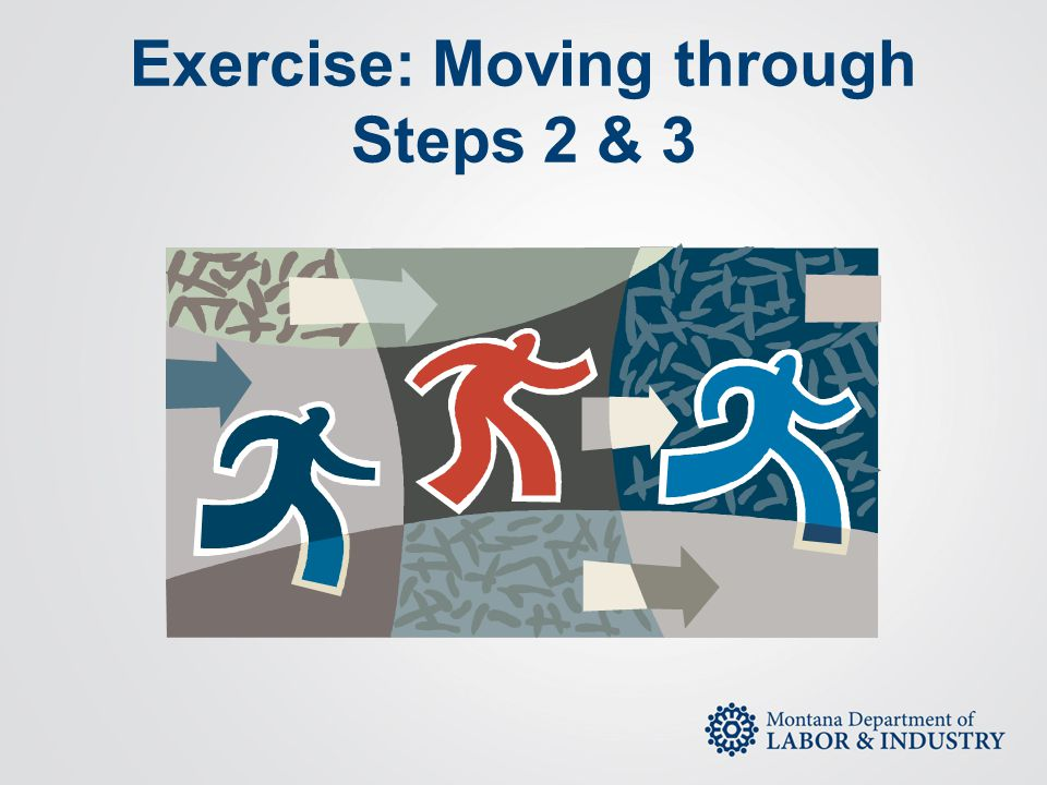 Exercise: Moving through Steps 2 & 3