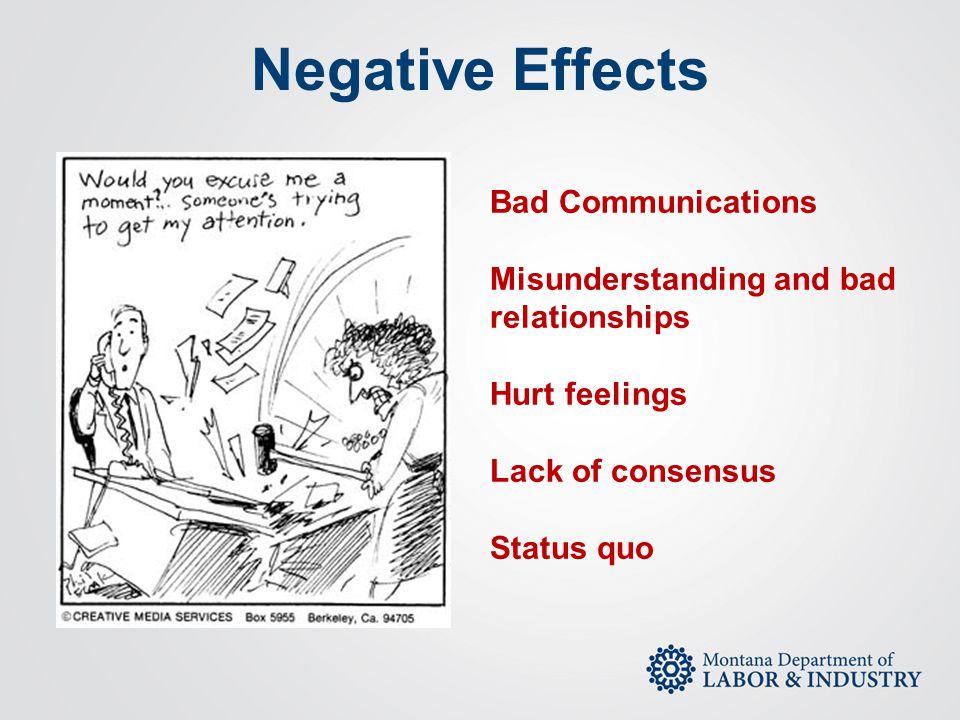Negative Effects Bad Communications