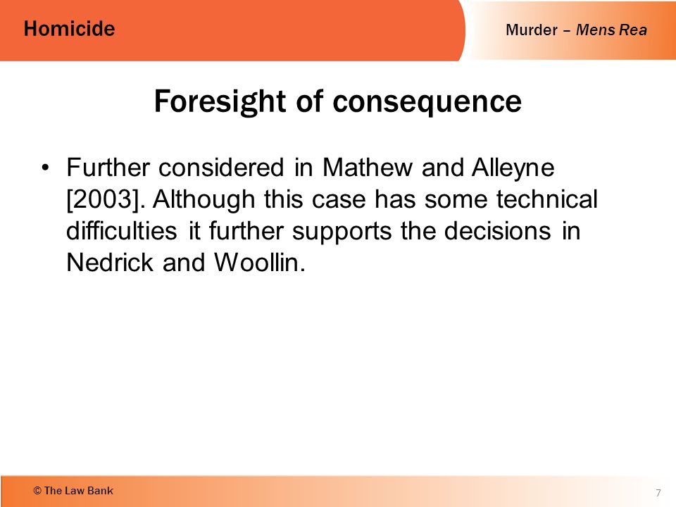 Foresight of consequence
