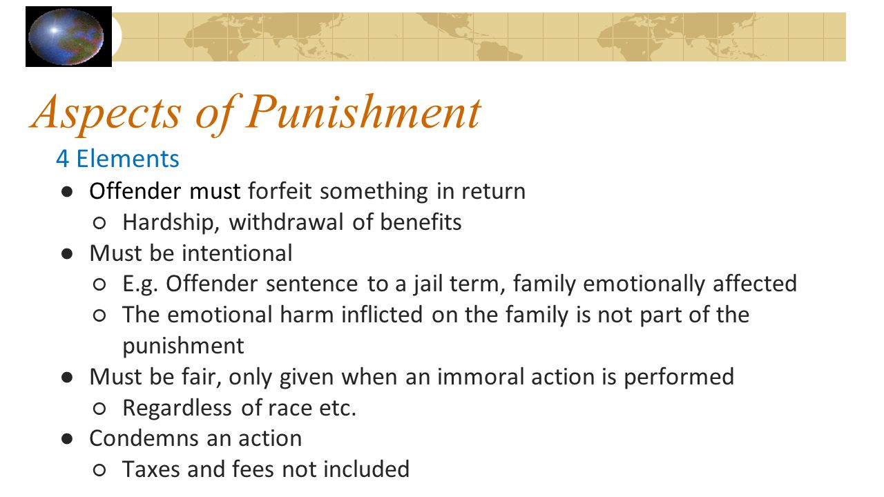 Aspects of Punishment 4 Elements