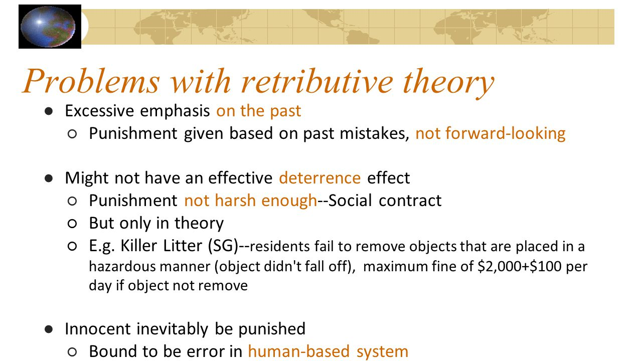 Problems with retributive theory