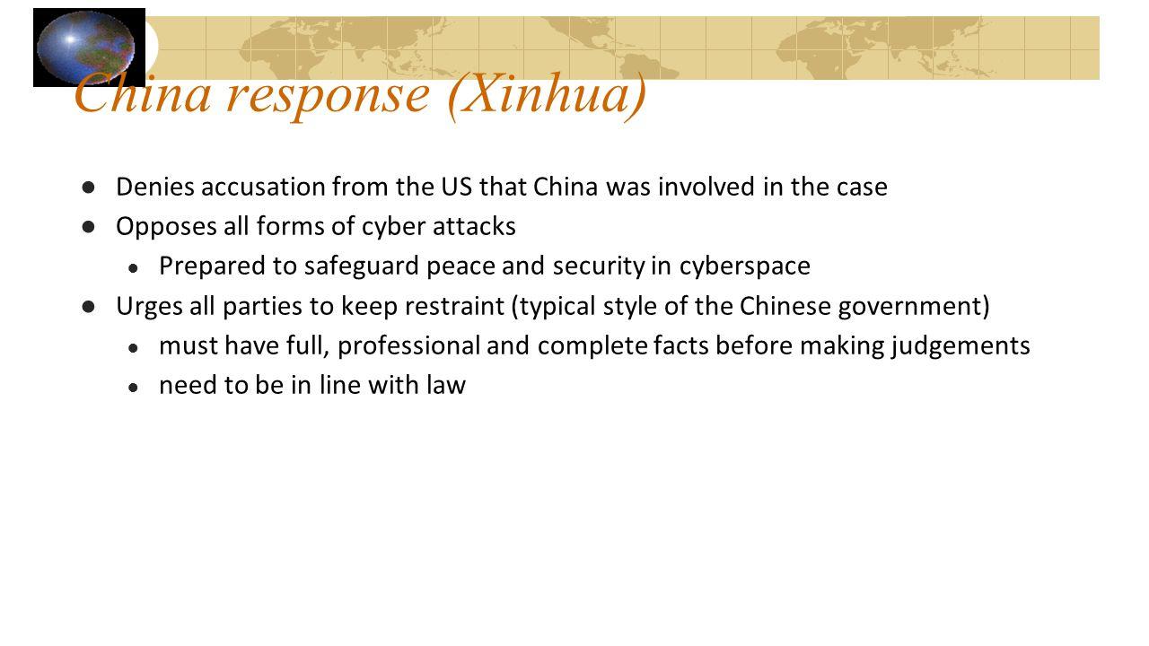 China response (Xinhua)