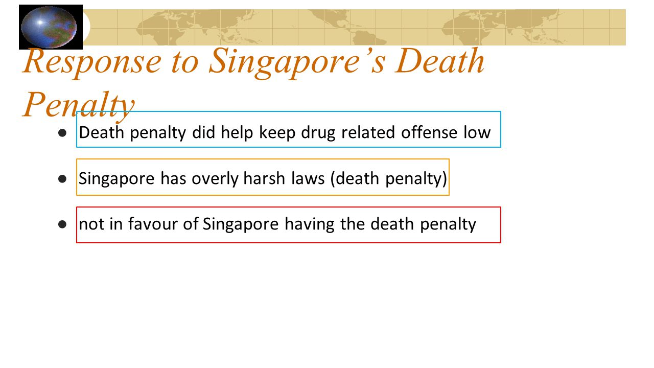Response to Singapore's Death Penalty