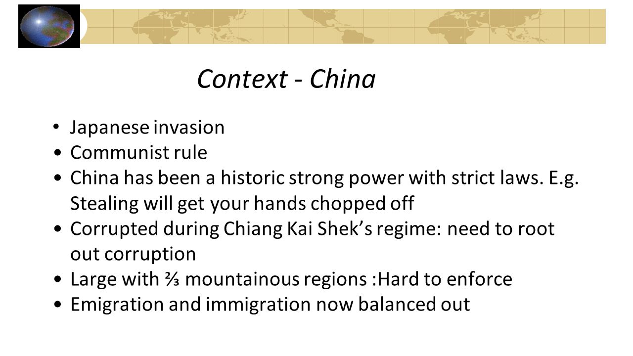 Context - China Japanese invasion Communist rule