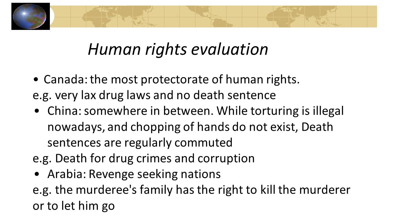 Human rights evaluation
